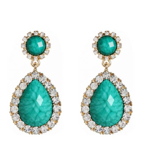 Amrita Singh Turquoise Amrita Evening Chandelier Earrings