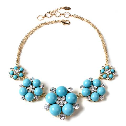 Amrita Singh Turquoise Floral Pearl Necklace