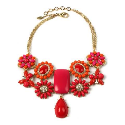 Amrita Singh Red/Fuschia/Coral Verve Necklace