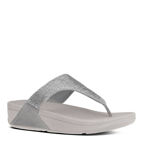 FitFlop Silver Slinky Rokkit Toe Post Sandals