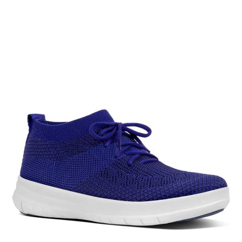 FitFlop Mazarine Blue/Black Uberknit Slip On High Top Sneakers