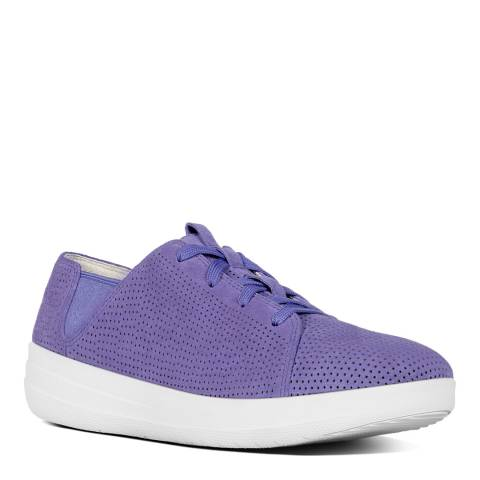 FitFlop Lavender Blue Leather Blend F Sporty Sneakers