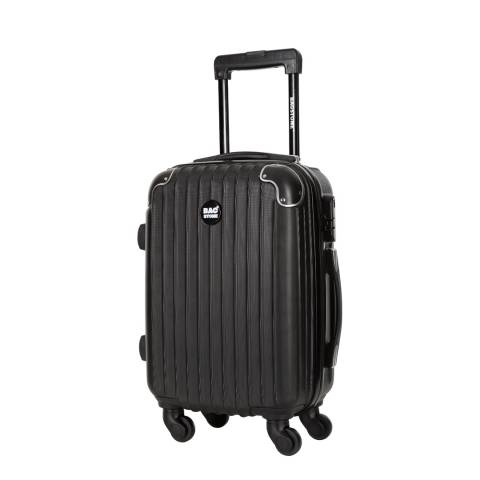 Bagstone Black Spinner America Suitcase 55cm