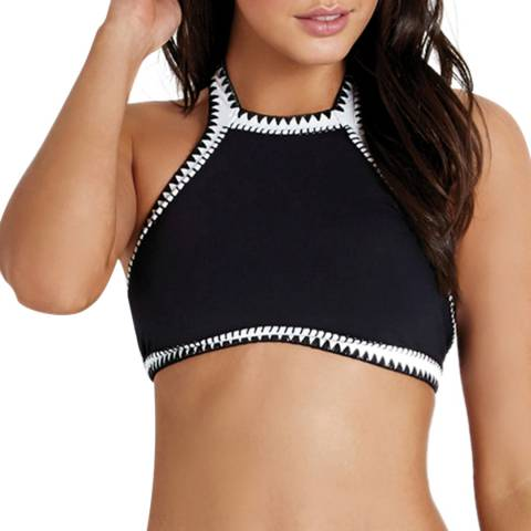 Seafolly Black Summer Vibe High Neck Tank Top