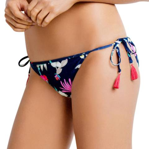 Seafolly Indigo Flower Festival Hipster Tieside Bottoms