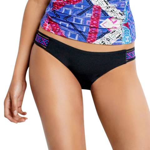 Seafolly Blueberry Moon Dance Elastic Side Hipster Reversible Briefs Bottoms