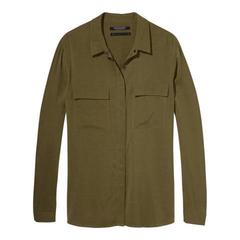Maison Scotch by Scotch & Soda Military Green Shirt