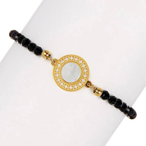White label by Liv Oliver Onyx/Mother of Pearl Bracelet