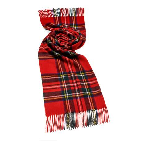 Bronte by Moon Royal Red Stewart Tartan Scarf