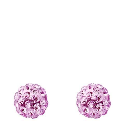 Wish List Pink Crystal Stud Earrings