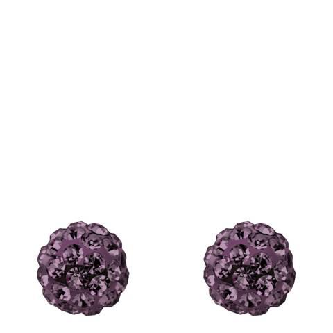 Wish List Purple Crystal Stud Earrings