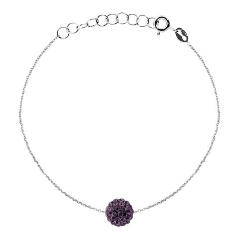 Wish List Silver/Purple Crystal Bracelet
