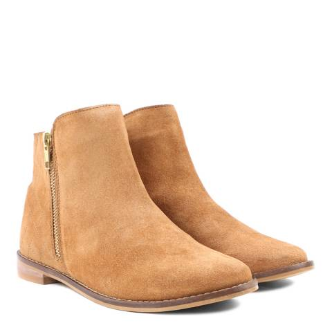Carlton London Tan Suede Leather Calum Ankle Boot