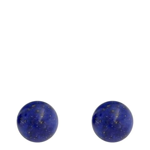 Alexa by Liv Oliver Silver Lapis Stud Earrings