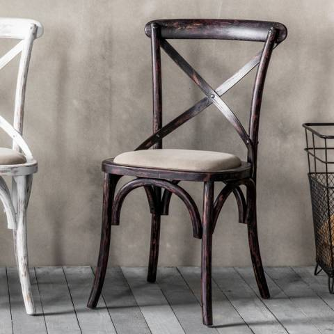Gallery Pair of 2 Black Cafe Chairs