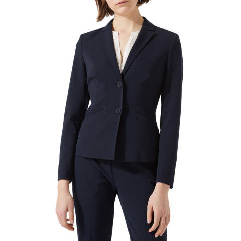 Jigsaw Womens Navy Paris Fit Wool Blend Jacket