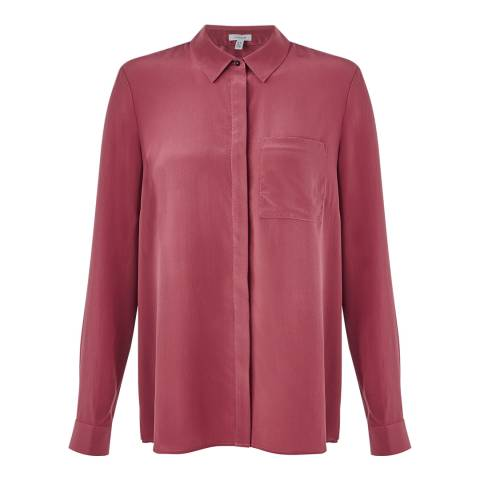 Jigsaw Womens Red Silk Shirt