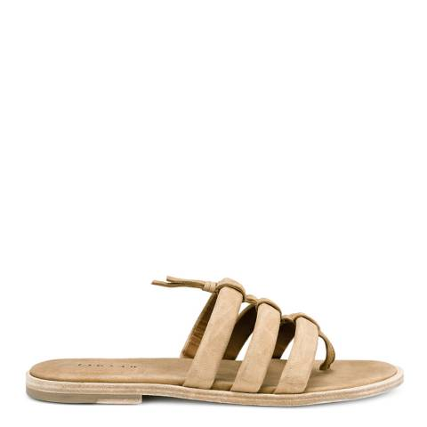 Jigsaw Tan Leather Isla Tube Gladiator Flats