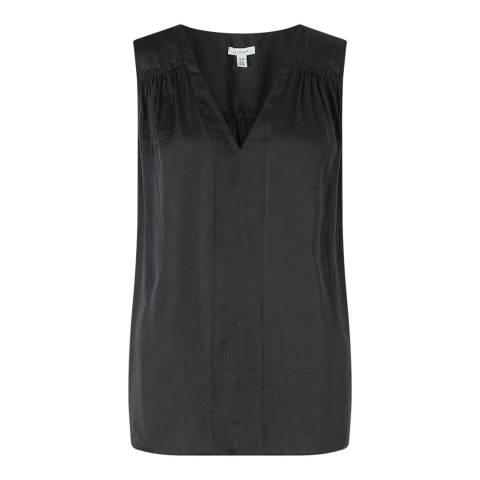 Jigsaw Womens Black Crocus Drape Top