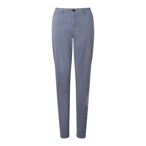 Jigsaw Blue Cotton Stretch Washed Chino Slim Leg Trouser