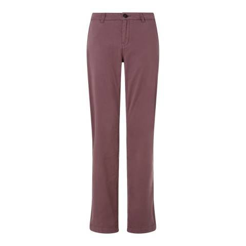 Jigsaw Womens Pink Cotton Stretch Washed Chinos Slim Leg Trousers