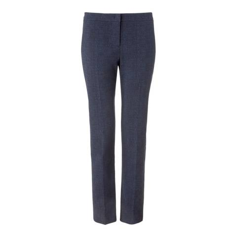 Jigsaw Womens Grey Cotton Blend City Jacquard Trousers
