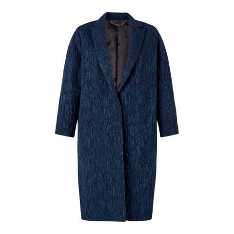 Jigsaw Womens Navy Cotton Blend Cloquet Coat