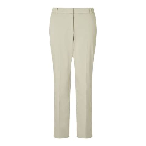 Jigsaw Womens Beige London Cotton Trousers