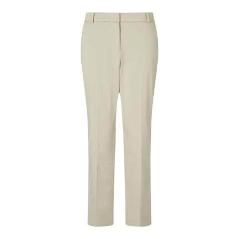 Jigsaw Womens Beige London Cotton Trousers