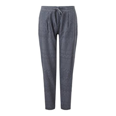 Jigsaw Womens Grey Relaxed Jacquard Trousers