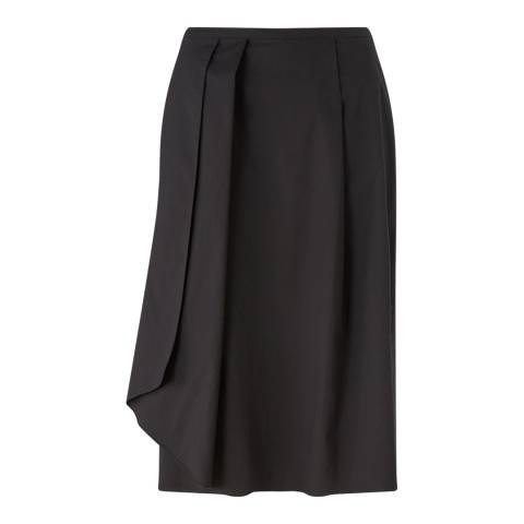 Jigsaw Womens Black Cotton Poplin Midi Skirt