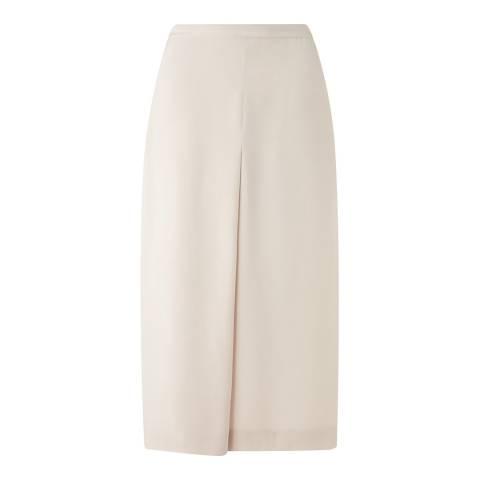 Jigsaw Cream Silk Folded Wrap Skirt