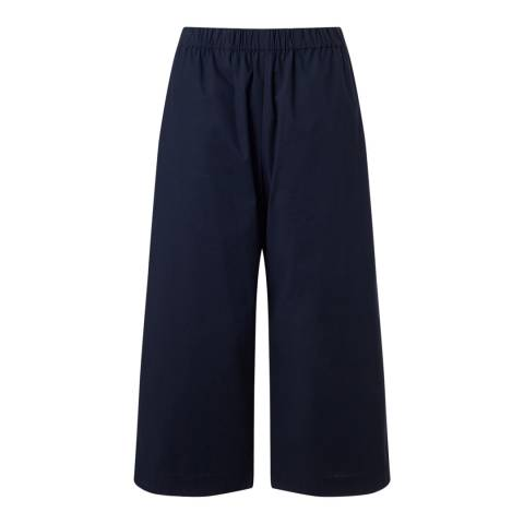 Jigsaw Womens Navy Cotton Poplin Trousers