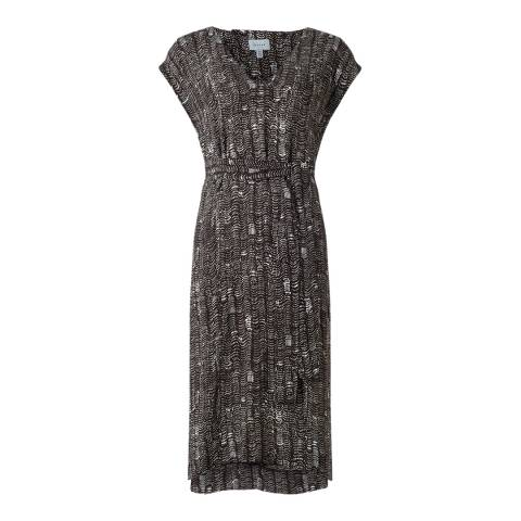 Jigsaw Womens Wave Spot V Neck Dress