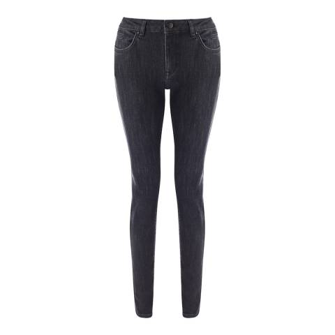 Jigsaw Womens Black Stretch Japanese Washed Cotton Trousers