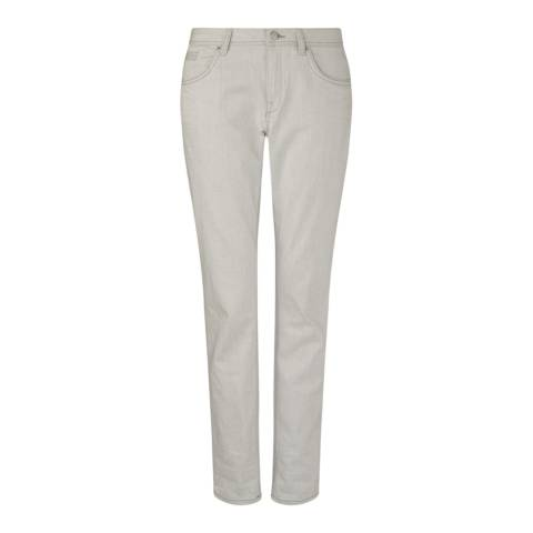 Jigsaw Womens Grey Cotton Stretch Weft Jeans
