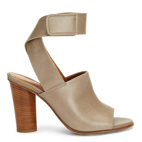 Jigsaw Womens Taupe Leather Estella Wrap Heel Sandal