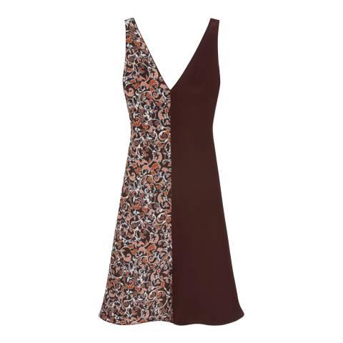 Mulberry Burgundy Apley Pyjama Silk Filigree Dress