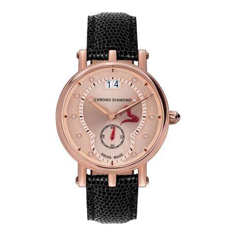 Chrono Diamond Women's Swiss Black Ariadne Watch