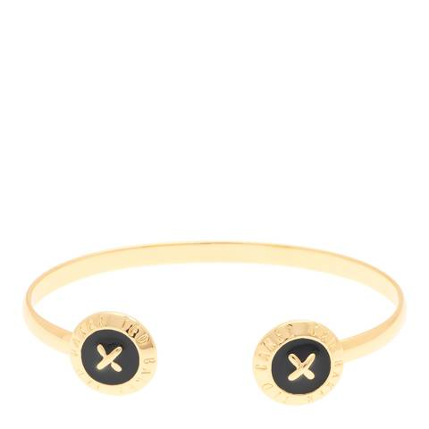 Ted Baker Black/Gold Eida: Enamel Double Button Cuff