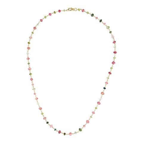 Liv Oliver Gold Tourmaline Necklace