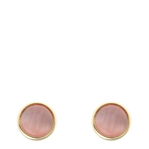 Liv Oliver Gold Pink Stud Earrings