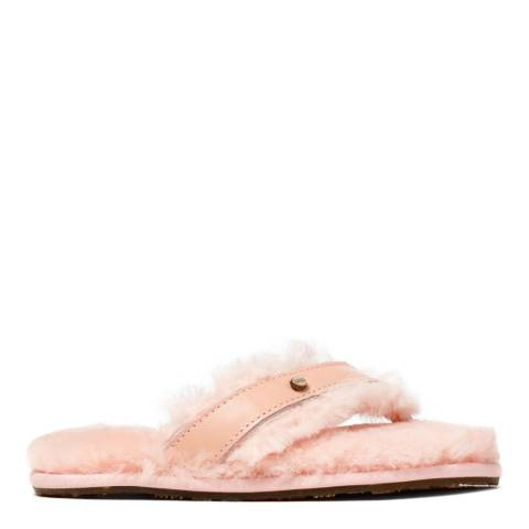 Australia Luxe Collective Pink Leather Flip Flop Slippers