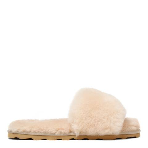 Australia Luxe Collective Sand Shearling Slide Slippers