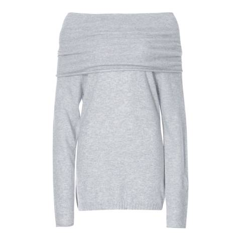 Scott & Scott London Light Grey Jessica Jaffa Cashmere Jumper