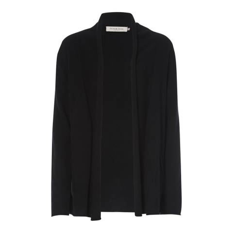 Scott & Scott London Black Longline Cashmere Cardigan