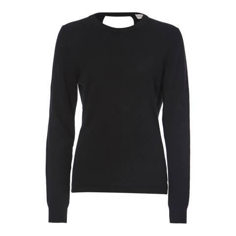 Scott & Scott London Black Ballet Wrap Cashmere Jersey Top