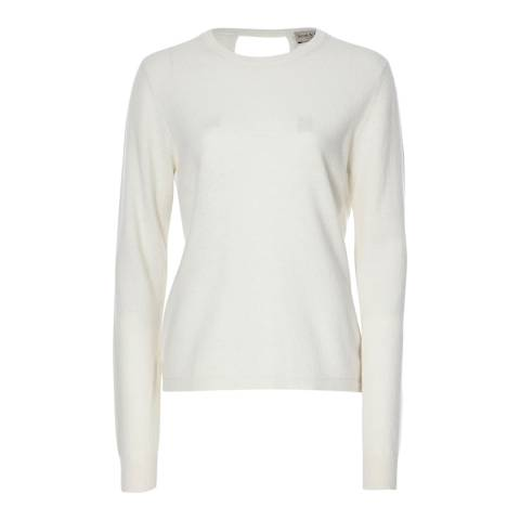 Scott & Scott London Organic White Ballet Wrap Cashmere Jersey Top
