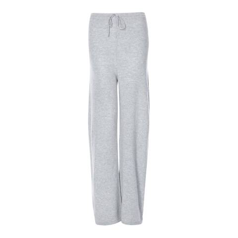 Scott & Scott London Light Grey Wide Leg Cashmere Joggers