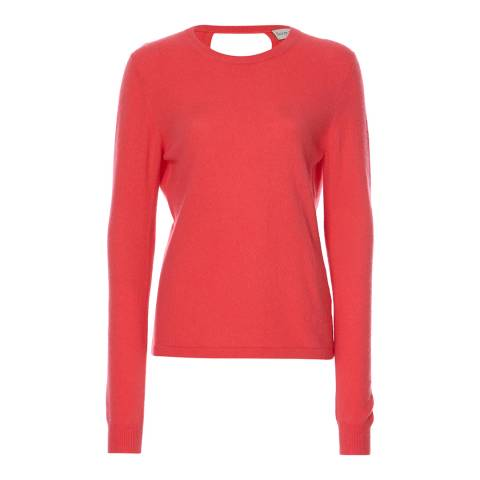 Scott & Scott London Lipstick Ballet Wrap Cashmere Jersey Top